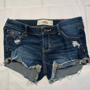 Hollister Dark Blue Jean Shorts - (Size 1, W25)